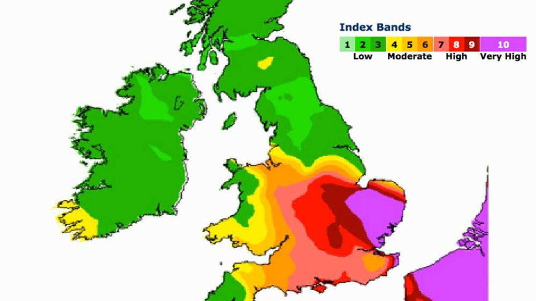 Air pollution levels in the UK for April 2