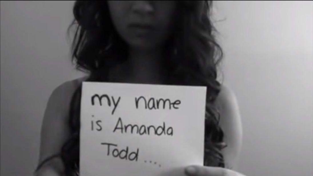 Amanda Todd YouTube Video Grab
