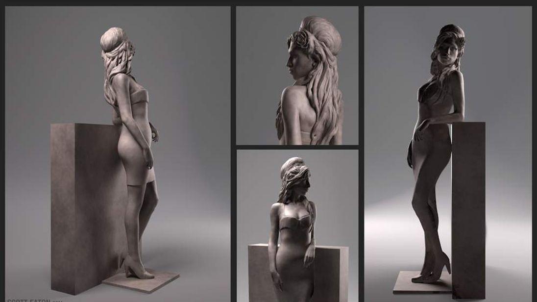 Amy Winehouse statue (Image: Scott Eaton)