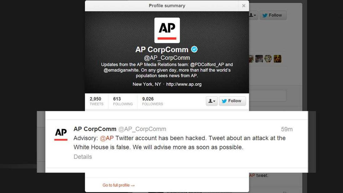 AP Twitter accounted hacked