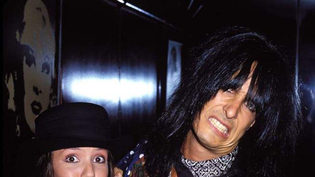 Brandi Brandt and Nikki Sixx in Los Angeles in June 1990
