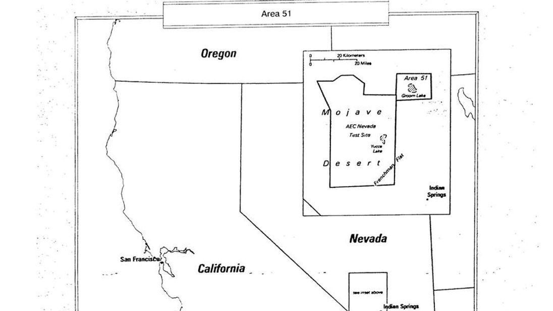 Area 51 map Pic: George Washington University GWU.edu