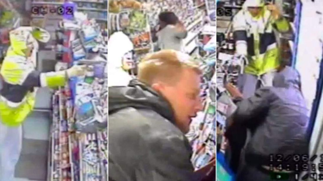 Two robbers snapped during an armed raid in Rochford, Essex.