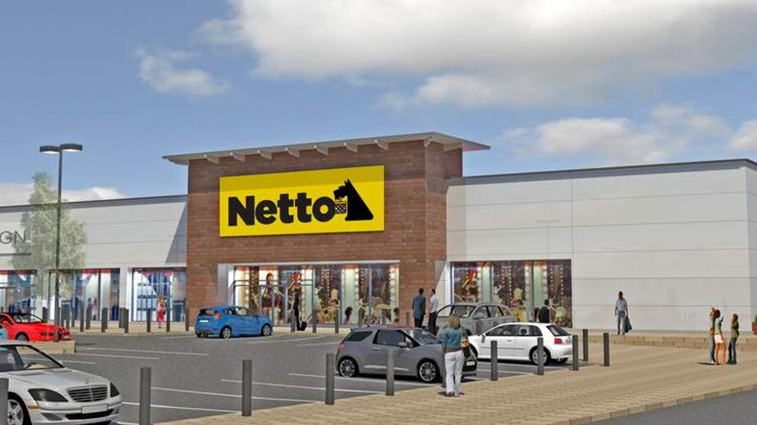 Netto released a computer graphic of how stores would look in the UK