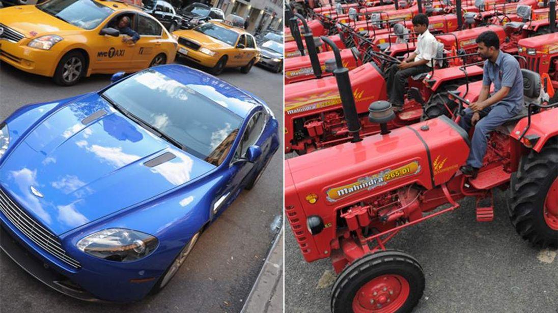Mahindra Tractors may buy into the Aston Martin brand