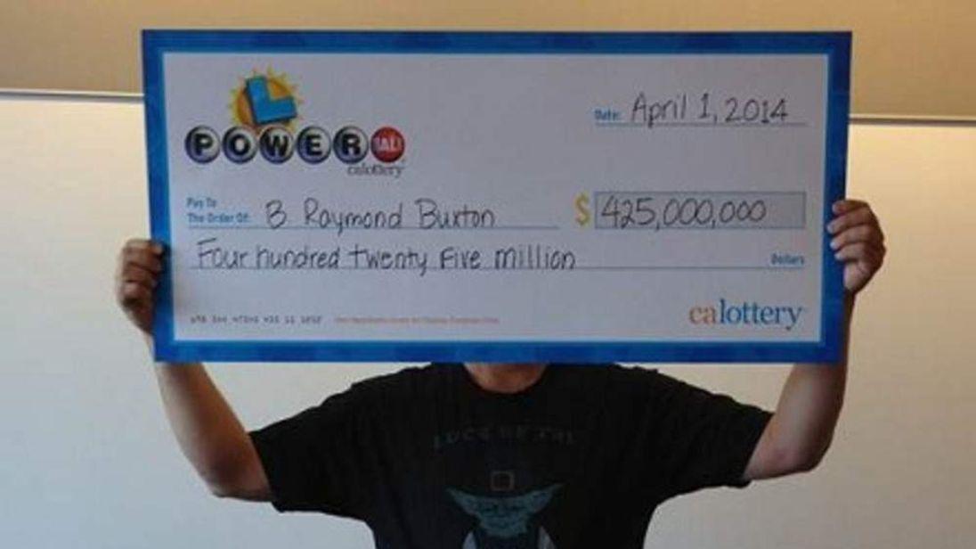 California Lottery winner nets $425m