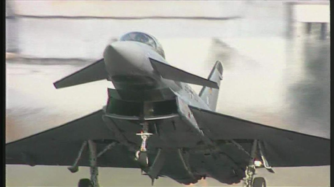 BAE Typhoon take-off