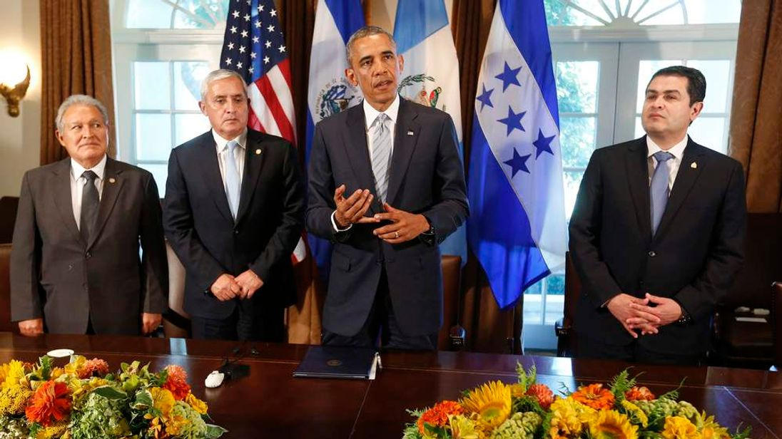 US President Obama at a meeting with Central American leaders