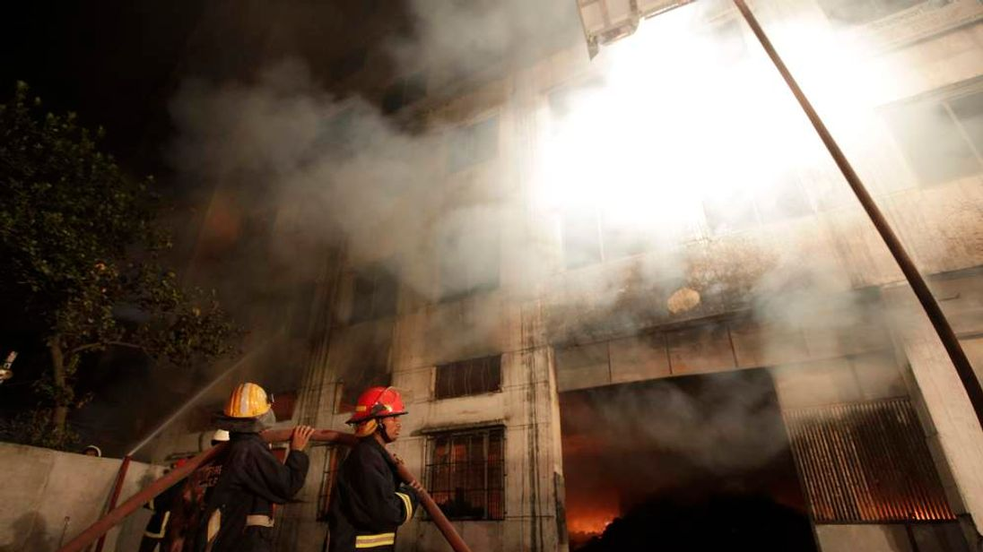 Fire at clothes factory in Bangladesh