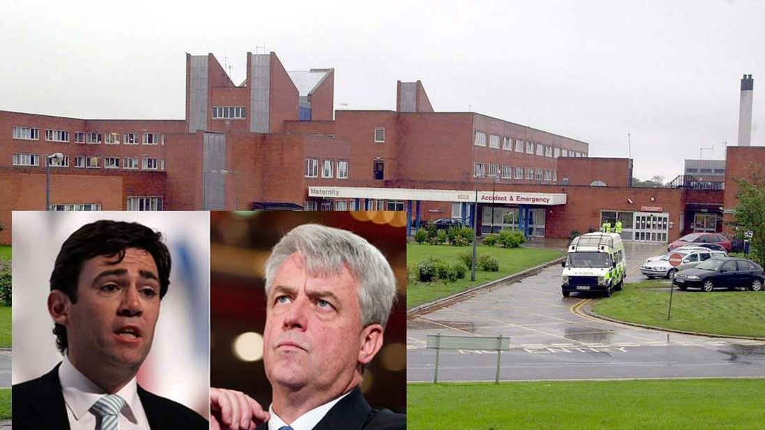 Furness General Hospital / Andy Burnham and Andrew Lansley