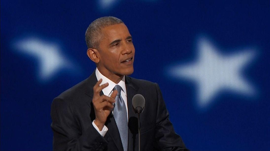 Barack Obama endorses Hillary Clinton at the DNC 2016