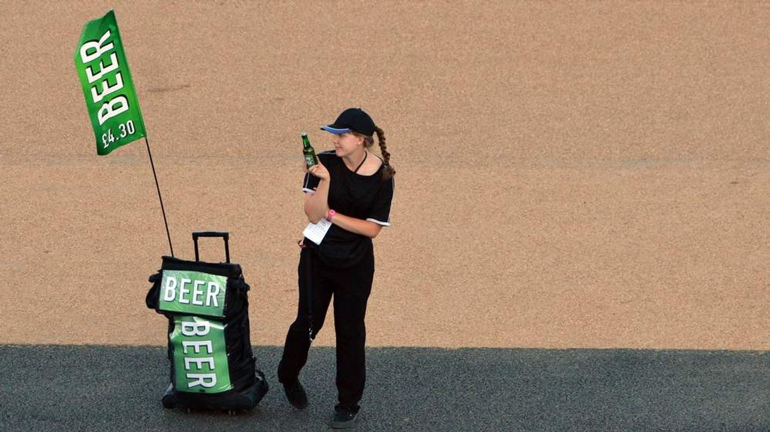 Beer seller at Olympics