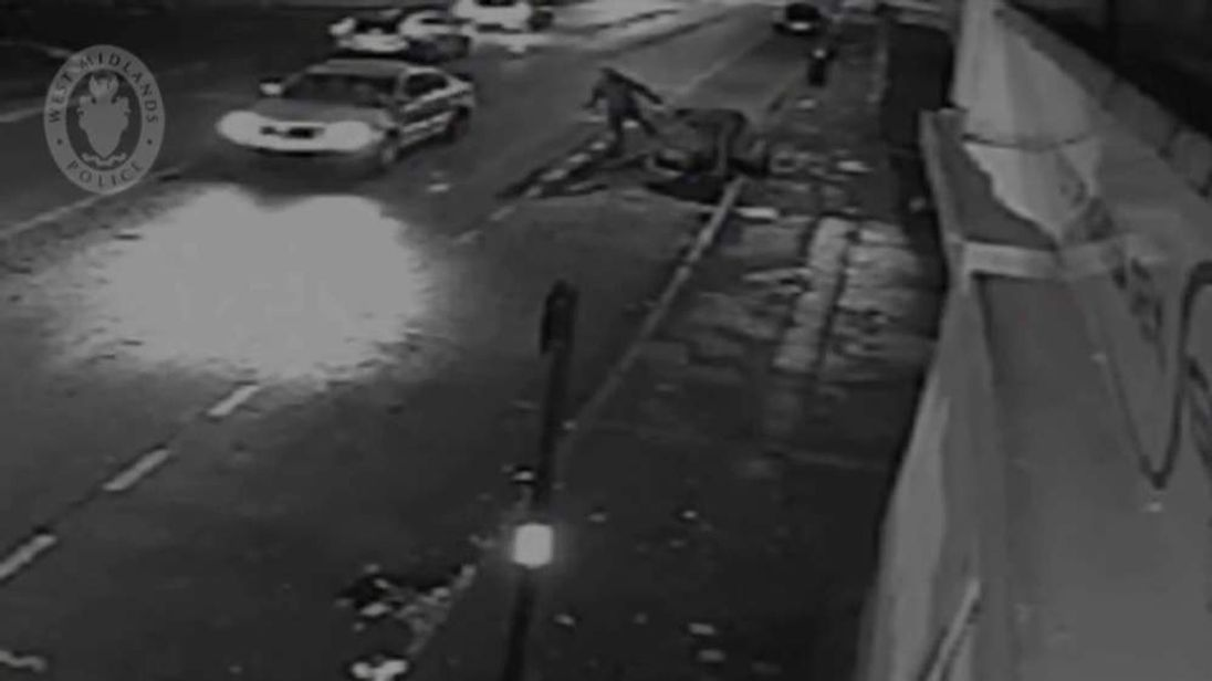 CCTV showing a man being attacked and robbed