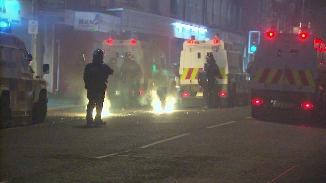 Violence in east Belfast