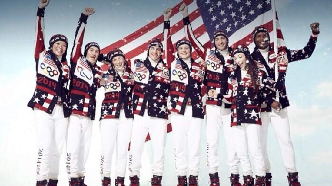 A picture posted on Twitter by Ralph Lauren of the US winter olympics team uniform