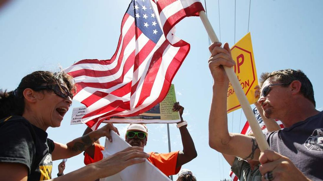 Activists Protest Processing Of Undocumented Immigrants In California Town