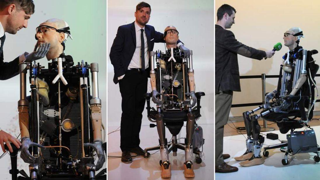 Million dollar bionic man on show