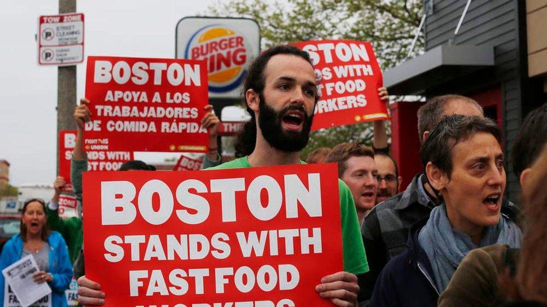 Fast-Food Workers On Strike
