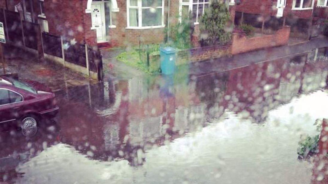 Flash floods in Retford, Nottinghamshire