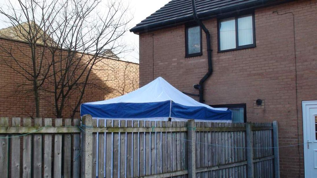 Delamere Street, where a two-year-old was found dead