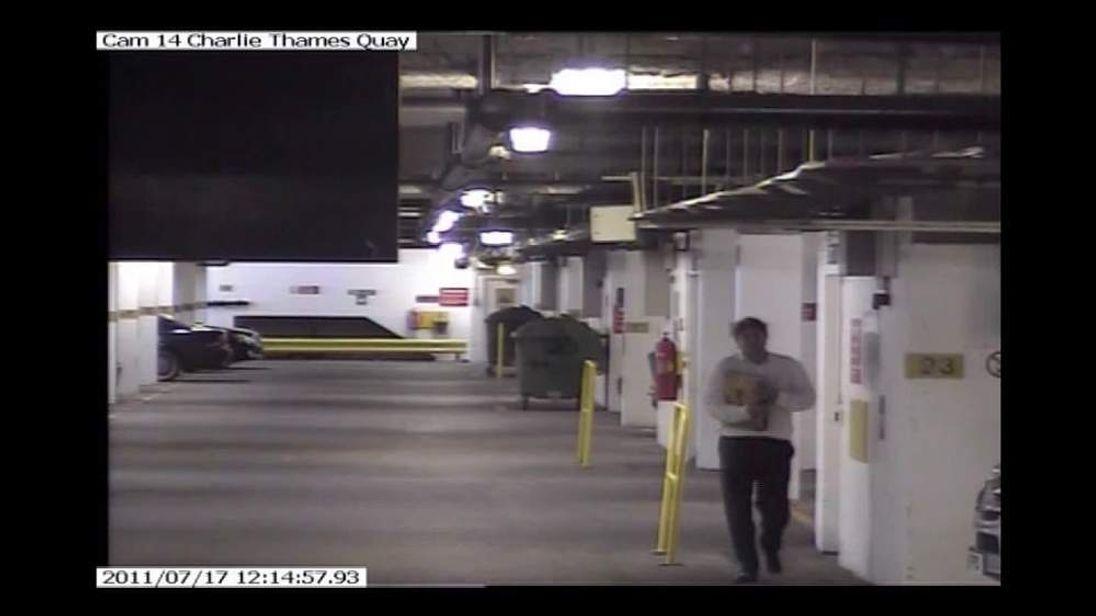 CCTV footage of former News of the Workd editor Rebekah Brooks' husband