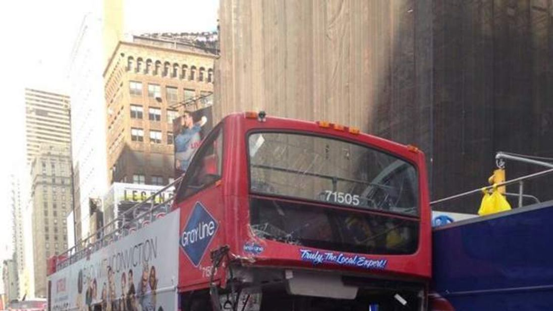 Times Square tour bus crash. Pic: FDNY/Twitter