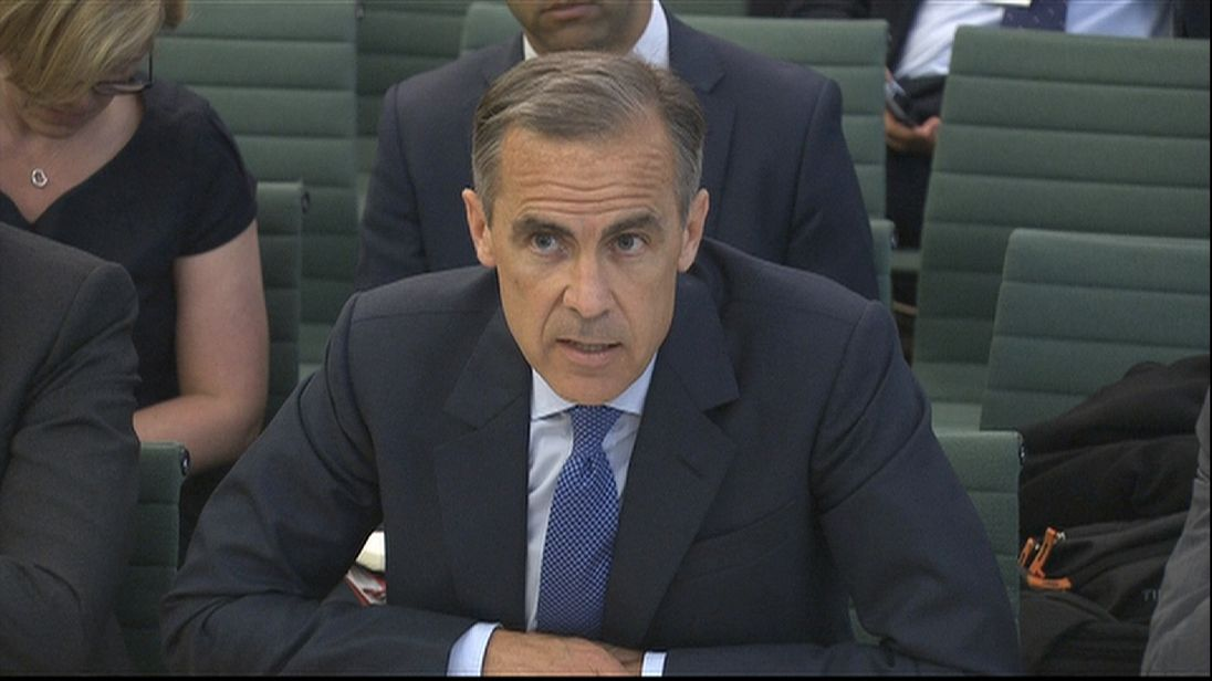 Governor of the Bank of England, Mark Carney, has denied peddling the views of the chancellor in the run-up to the EU referendum.