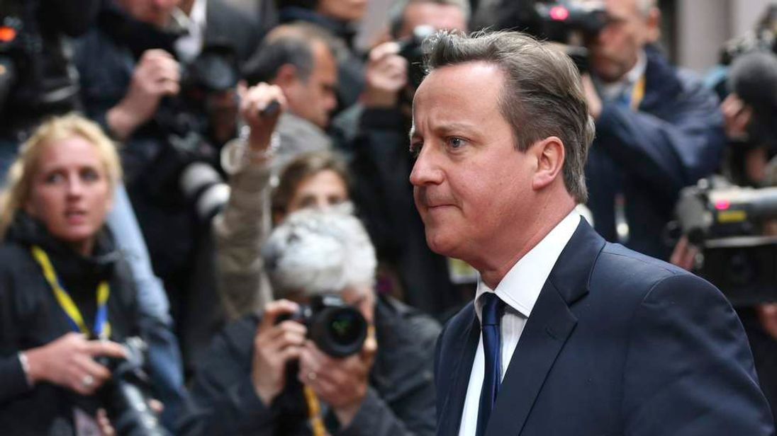 Britain's PM Cameron arrives at a European Union leaders informal summit in Brussels