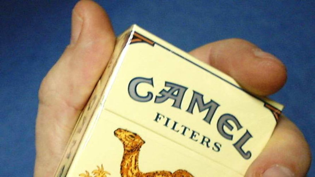 A packet of Camel cigarettes