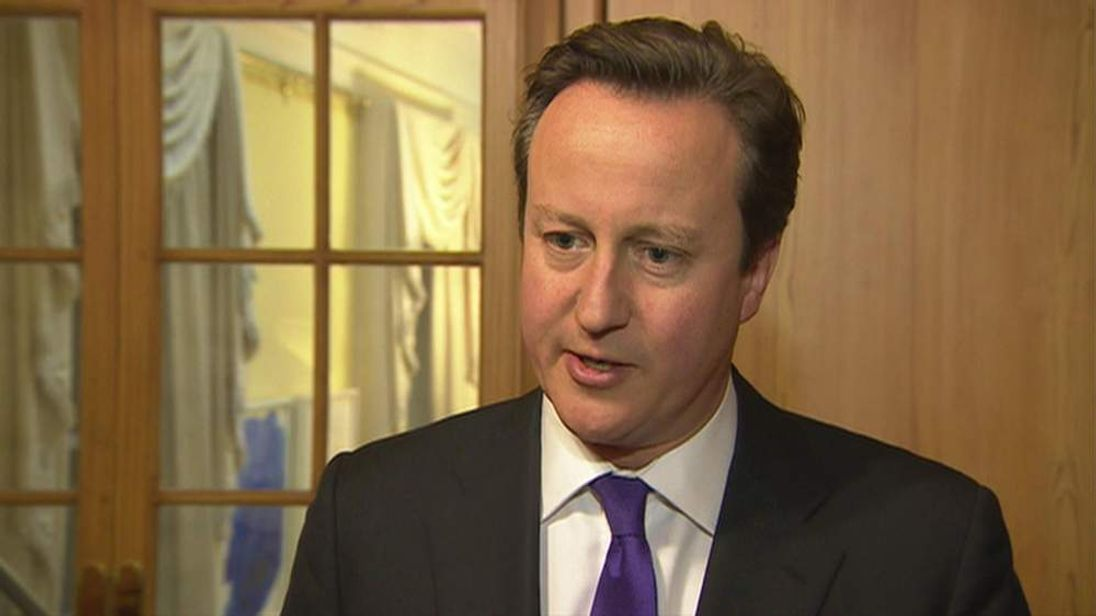 Prime Minister David Cameron ahead of gay marriage vote