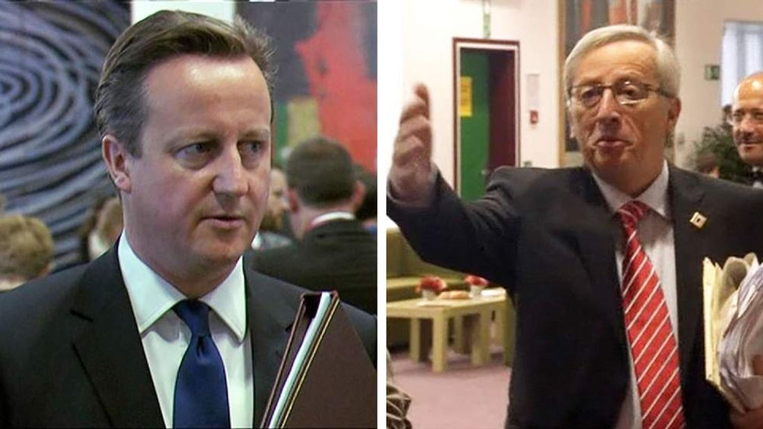 David Cameron and Jean-Claude Juncker at EU