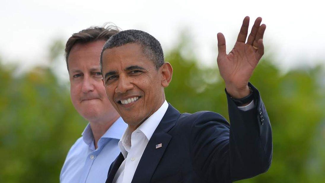 David Cameron and Barack Obama at the G8 summit