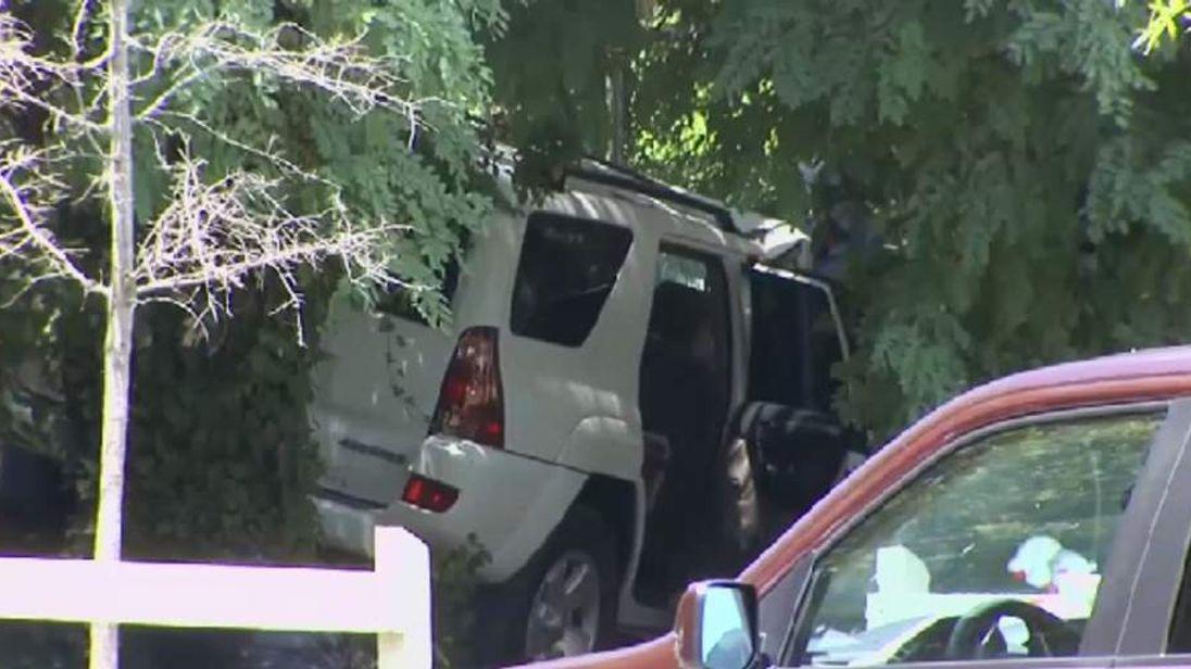The carjacked SUV
