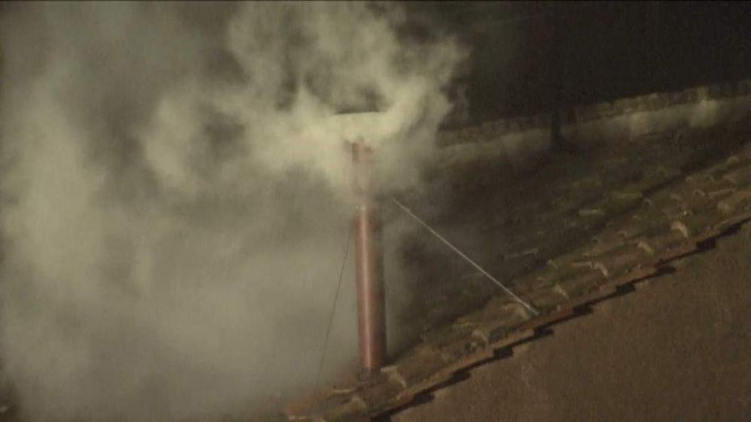 White smoke as new pope elected