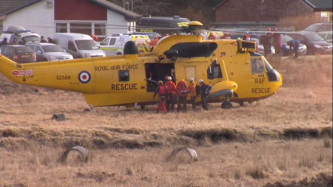 RAF rescue helicopter leaves for search mission in Glencoe