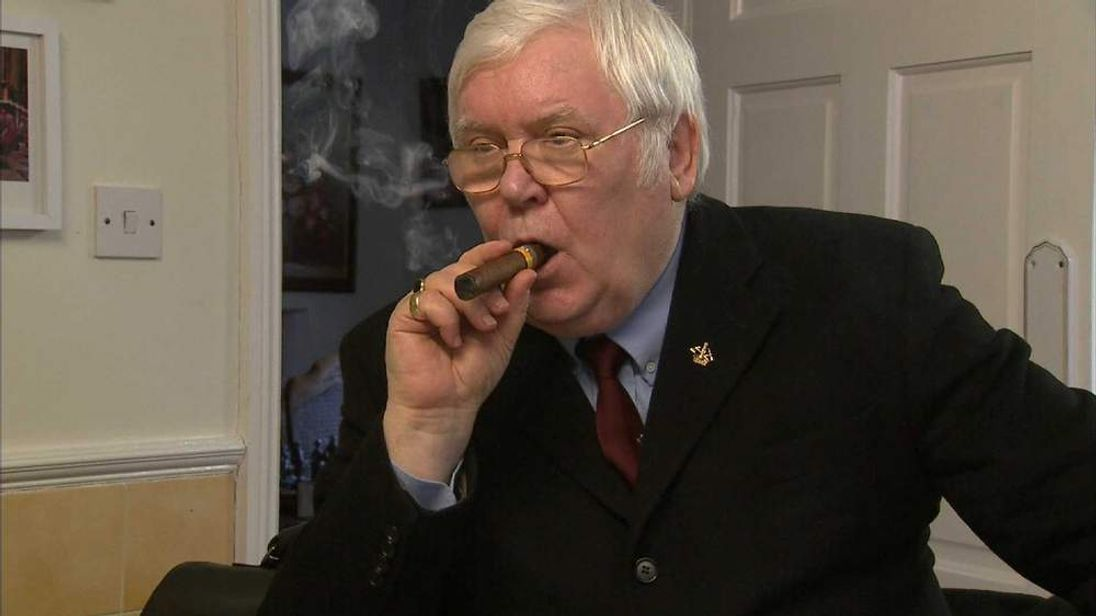 Dave Hopper Durham Miners Association General Secretary celebrating death of Margaret Thatcher