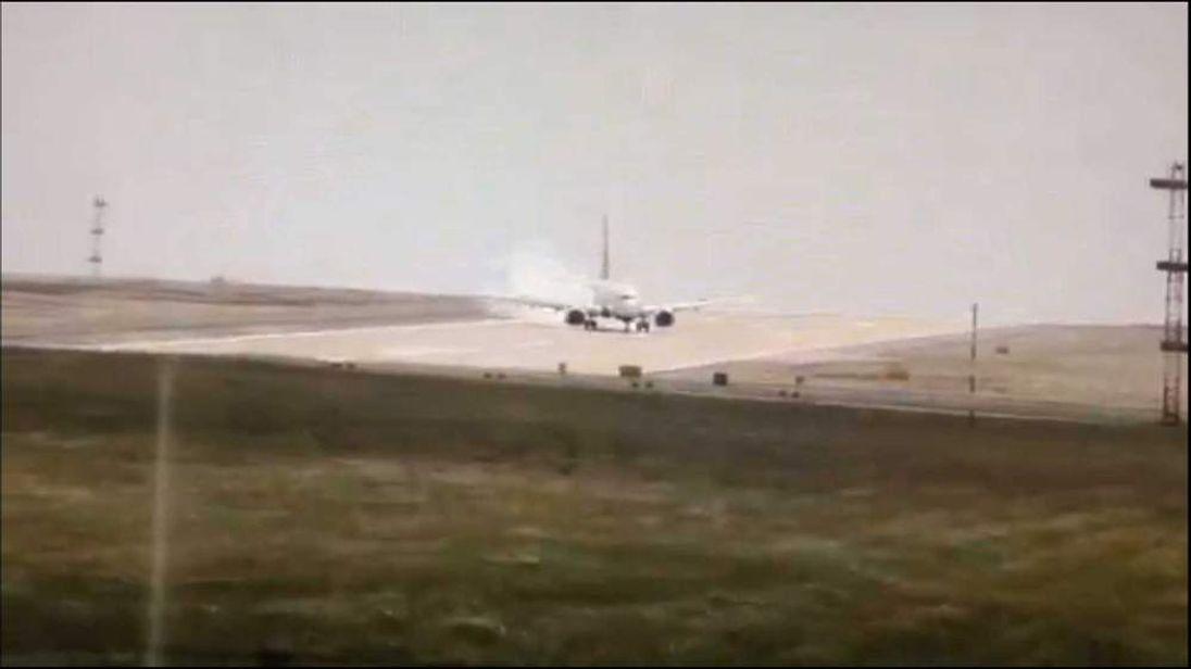 The landing at Leeds Bradford Airport