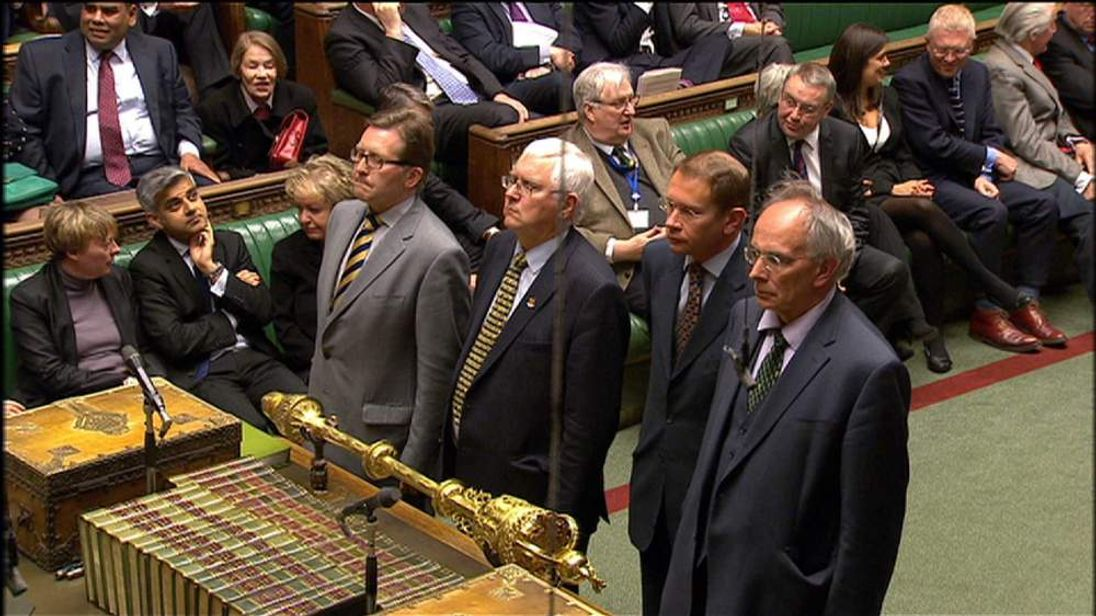 MPs at the vote