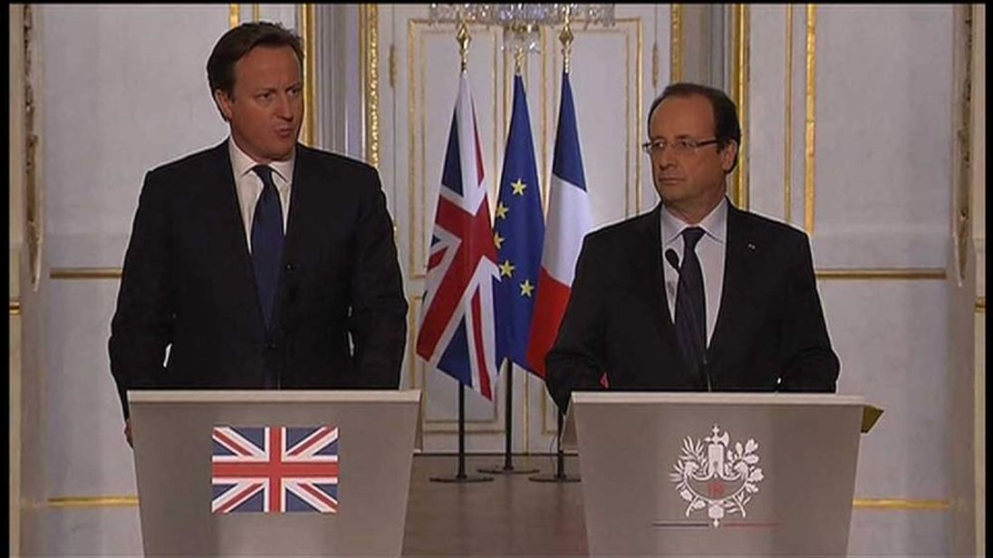 David Cameron and Francois Hollande give their reaction to the attack in Woolwich
