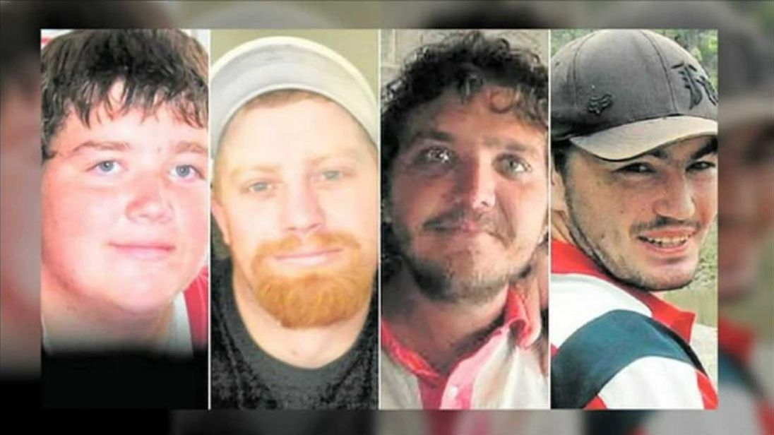 Only Joshua Lynam (3rd from left) survived drinking home-brewed alcohol