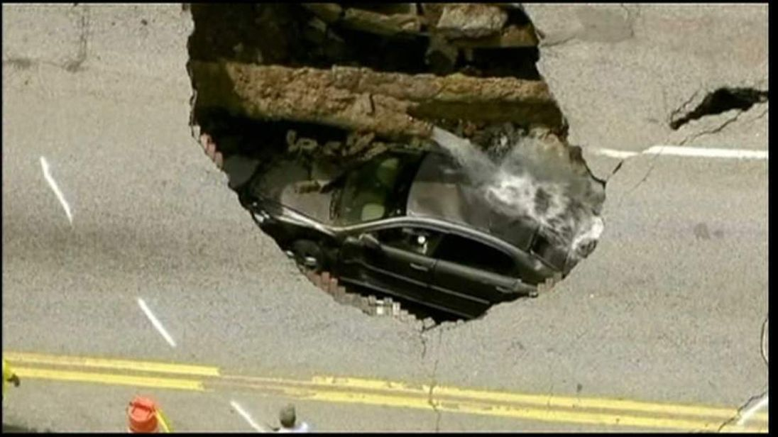 The sinkhole in Ohio