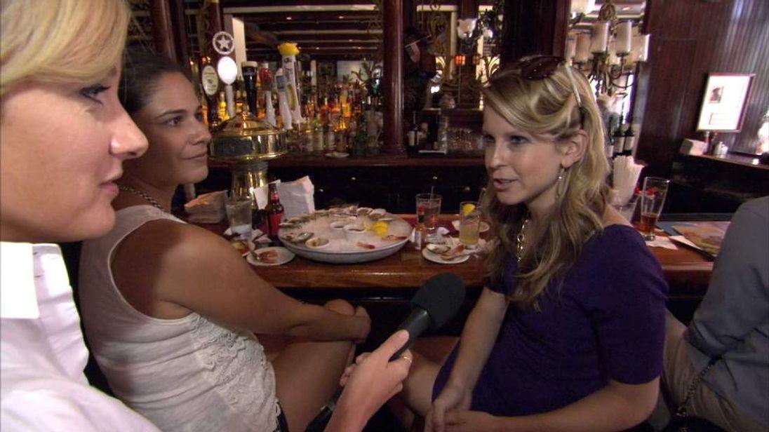 Amanda Walker with drinkers in Washington DC