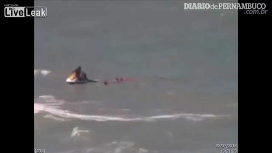 A young Brazilian woman is attacked by a shark