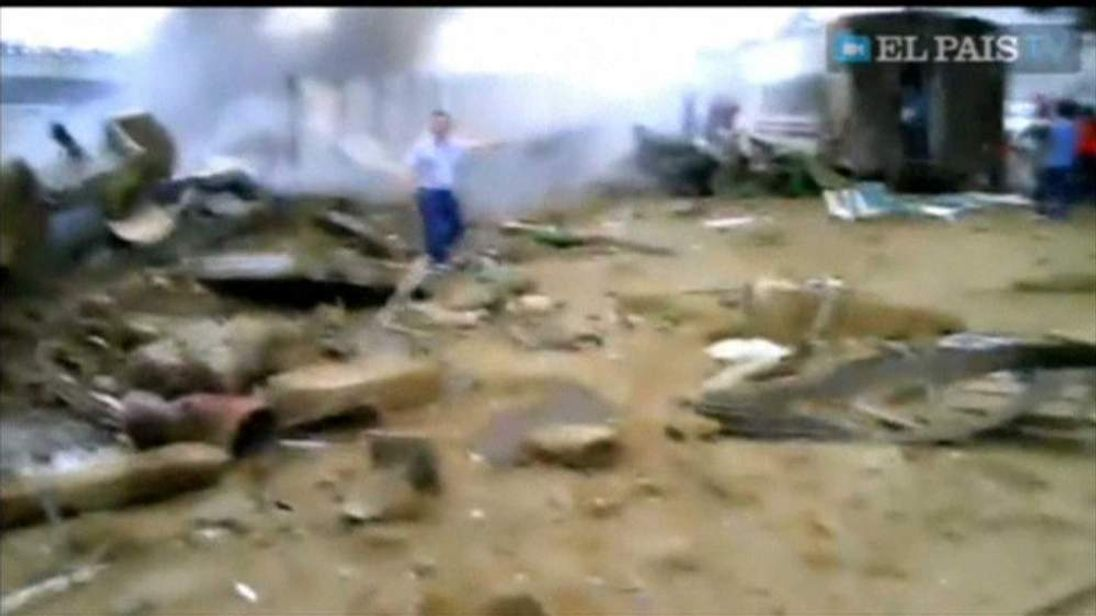 Spain train crash immediate aftermath