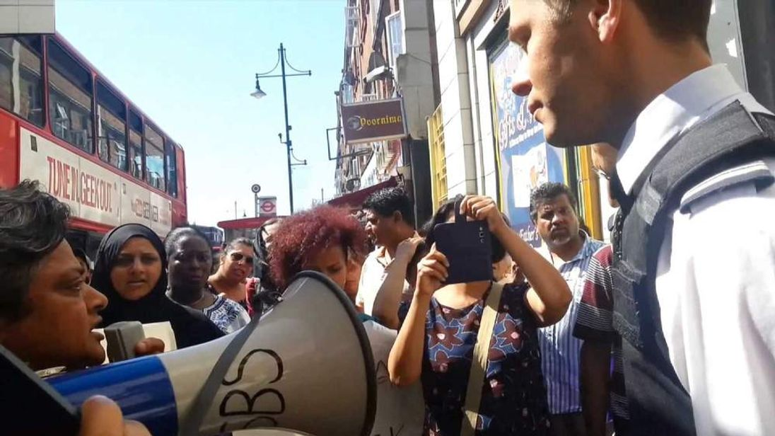 Immigration raid protest Southall