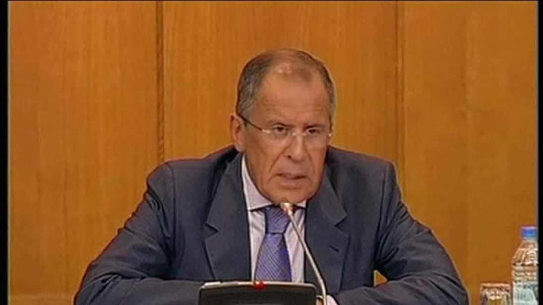 Russia foreign minister Sergei Lavrov