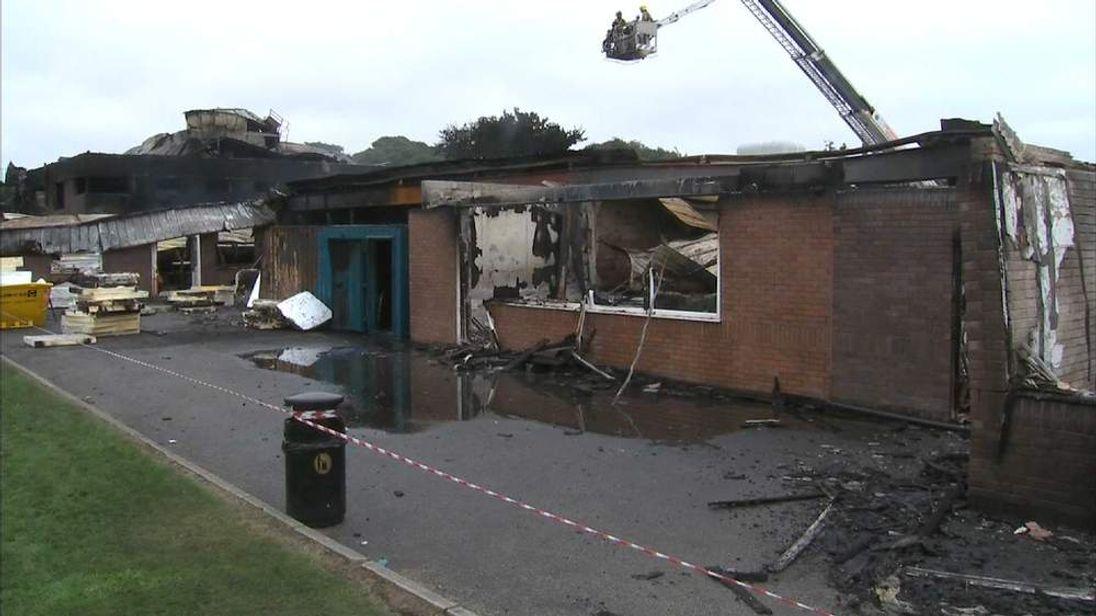 School fire at Leyland St Mary's Catholic Technology College in Royal Avenue, Leyland, Lancashire