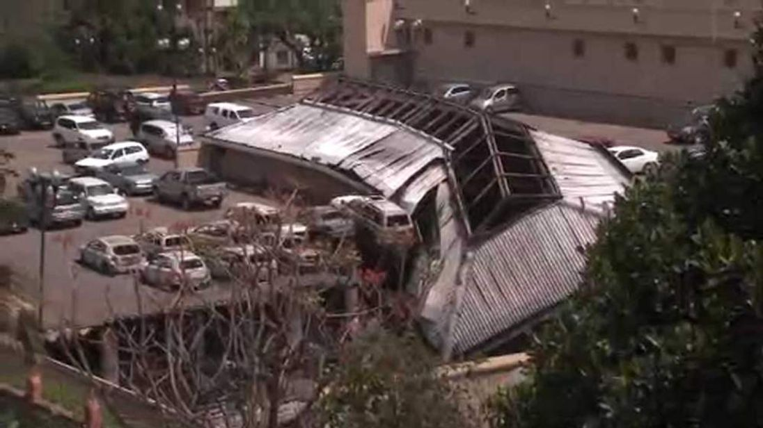 Aftermath of terror attack at Nairobi shopping mall in Kenya