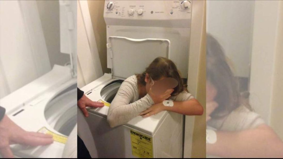 Trinity while stuck in the washing machine