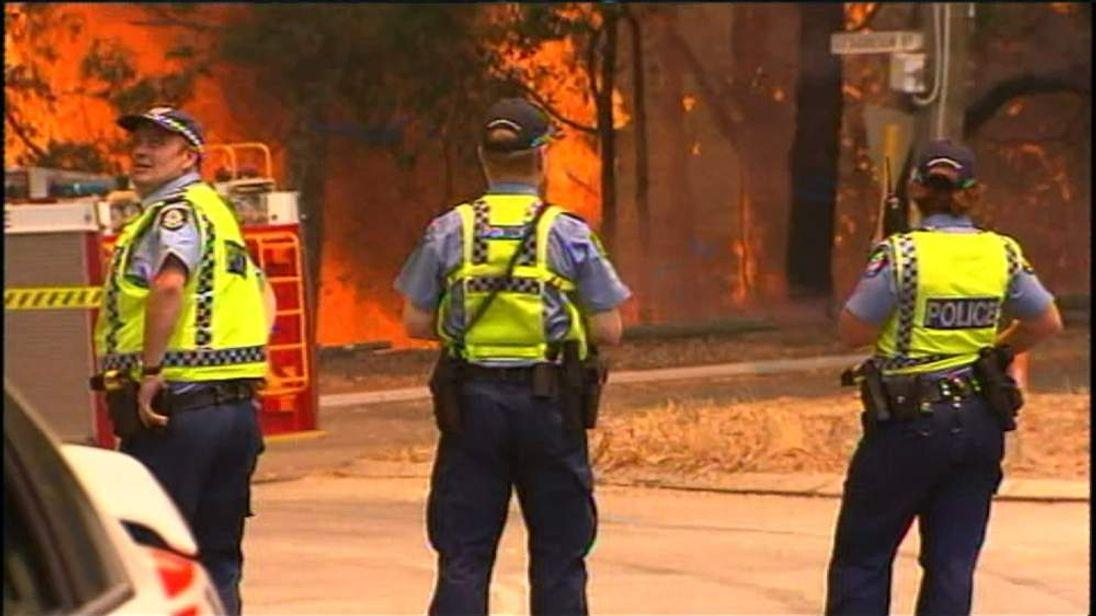 Australia bushfires near Perth